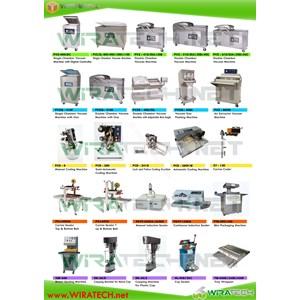 Mesin Vakum - Pencetak Kode - Induksi - Skin - Blister - Capping - Cup Sealer - Karton Sealer