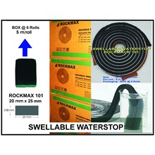WATERSTOP MENGEMBANG ROCKMAX 101 (20mm X 25 mm) Bahan Waterproofing
