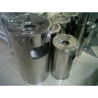 Jual Tong Tempat Sampah Dust Bin Standing Ashtray Stainless Steel