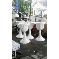Jual Pot Vas Bunga Plastik Taman Gantung Bibit Tembok Dekorasi Putih