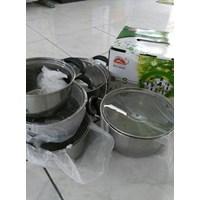 Distributor Panci Set Stockpot Steamer Stainless Steel 3