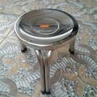 Kursi Tinggi Bulat Stainless Steel 2