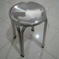 Distributor Kursi Tinggi Bulat Stainless Steel 3
