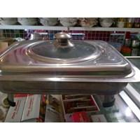 Distributor Prasmanan Fast Food Dish Set Pan With Stove Stainless Steel 3