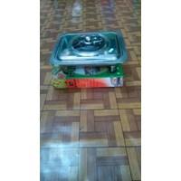 Panci Prasmanan Fast Food Dish Set Pan With Stove Stainless Steel