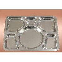 Snack Food Tray Sekat Stainless Steel