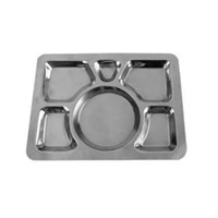 Jual Snack Food Tray Sekat Stainless Steel 2