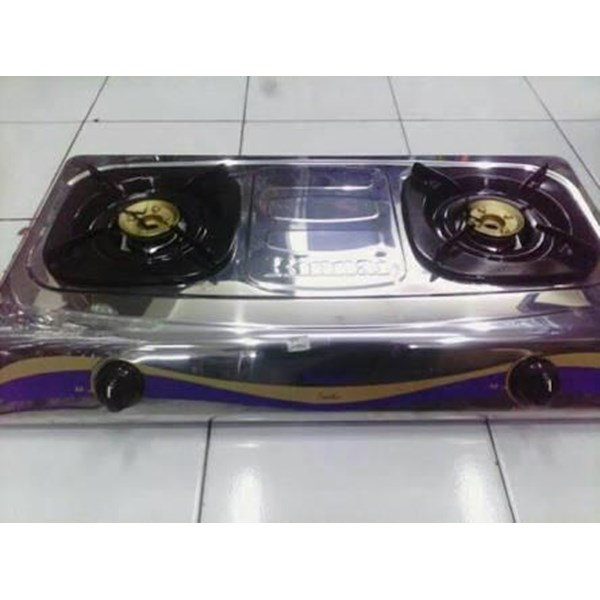 Kompor Gas Tungku Teflon Stainless Steel Rinnai RI 522C 522E