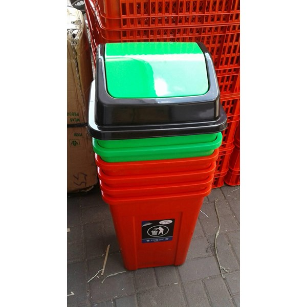 Tong Sampah Segi Bulat Plastik Lucky Star Lion Star Maspion AG Green Leaf Multiplast