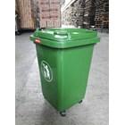 Tong Gerobak Sampah Bulat Segi Roda Plastik Taman Luar Ruangan Lion Star Maspion Green Leaf 3