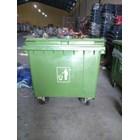 Tong Gerobak Sampah Bulat Segi Roda Plastik Taman Luar Ruangan Lion Star Maspion Green Leaf 2