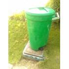 Tong Gerobak Sampah Bulat Segi Roda Plastik Taman Luar Ruangan Lion Star Maspion Green Leaf 5