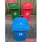 Tong Gerobak Sampah Bulat Segi Roda Plastik Taman Luar Ruangan Lion Star Maspion Green Leaf 1