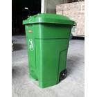 Tong Gerobak Sampah Bulat Segi Roda Plastik Taman Luar Ruangan Lion Star Maspion Green Leaf 4
