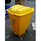 Tong Gerobak Sampah Bulat Segi Roda Plastik Taman Luar Ruangan Lion Star Maspion Green Leaf 6