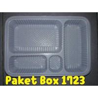 Jual Disposable Bento Box Kotak Makan Sekat Mika Sekali Pakai 2