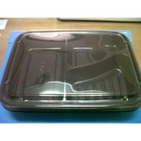 Disposable Bento Box Kotak Makan Sekat Mika Sekali Pakai 1