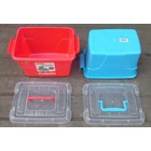 Favourite Container Box Plastik Kotak Warna Tutup Transparan Dengan Handle Maspion 4