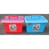 Favourite Container Box Plastik Kotak Warna Tutup Transparan Dengan Handle Maspion 1
