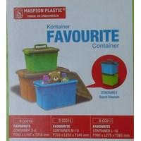 Sell Favourite Container Box Plastik Kotak Warna Tutup Transparan Dengan Handle Maspion 2