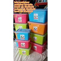 Distributor Favourite Container Box Plastik Kotak Warna Tutup Transparan Dengan Handle Maspion 3
