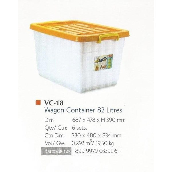 Vigo Wagon Container Box Roda Lion Star