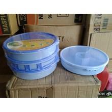 Rantang Tenong Kotak Makan Bulat Plastik Delight Serving Snack Tray Maspion