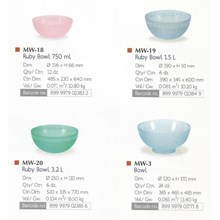 Mangkok Salad Plastik Ruby Bowl Lion Star