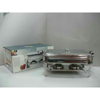 Jual Super Pan With Stove Chafing Dish Buffet Server Roll Top Deep Soup Bowl Prasmanan Stainless Steel