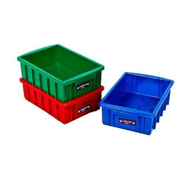 Bak Container Kotak Polos Buntu Plastik Lucky Star