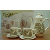 Jual Cup and Saucer Cangkir dan Lepek Dinner Tea Set Keramik 2