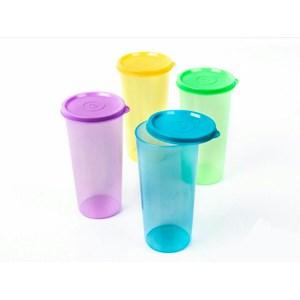 Tumbler Plastik dengan Tutup