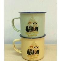 Jual Mug Enamel Polos Kembang Promosi Souvenir 2