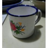 Mug Enamel Polos Kembang Promosi Souvenir 1