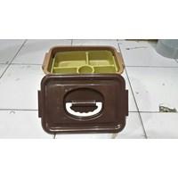 Distributor Toples Lunch Box Kotak Makan Sekat Samir Tutup Gagang Plastik 3