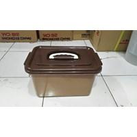 Jual Toples Lunch Box Kotak Makan Sekat Samir Tutup Gagang Plastik 2