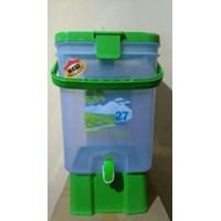 Distributor Dispenser Galon Plastik Kran Kedai Jualan Teh Montana Maspion 3