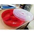 Candy Tray Toples Mika Kue Kering Manisan Bulat Sekat Lebaran Idul Fitri Nuai Tantos 3