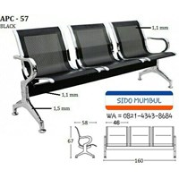 Kursi Sandar Bandara Stainless Steel 3 dan 4 Seater