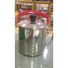 Mug Cangkir Tutup Stainless Steel