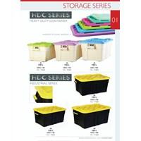 Heavy Duty Container Box Roda Industri Plastik Super Kuat 1