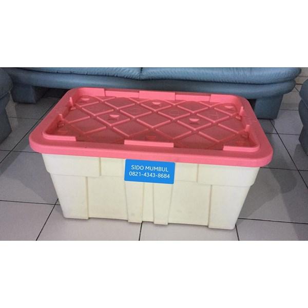 Heavy Duty Container Box Roda Industri Plastik Super Kuat