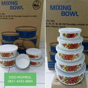 Dari Mangkok Mixing Bowl Enamel Set 5 Pcs Panda Maspion 0