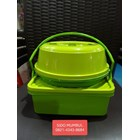 Toples Rantang Tunggal Tempat Roti Lunch Box Plastik Set Luna 1