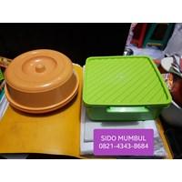 Jual Toples Rantang Tunggal Tempat Roti Lunch Box Plastik Set Luna