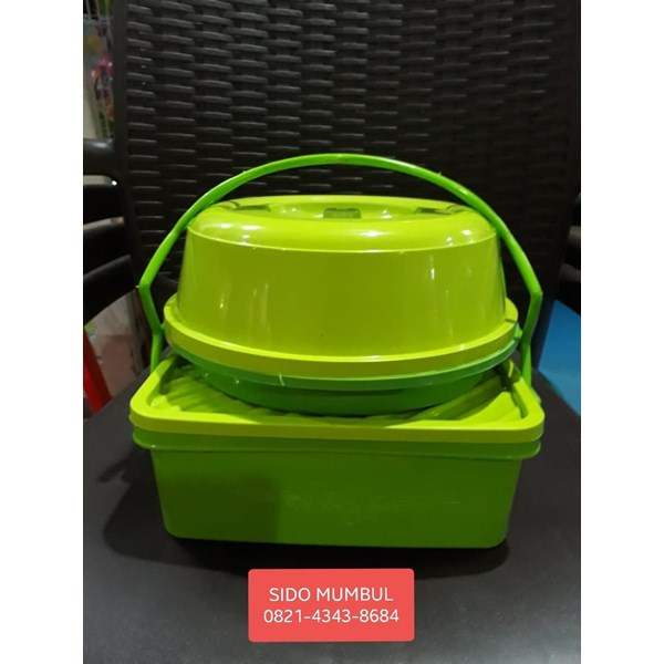 Toples Rantang Tunggal Tempat Roti Lunch Box Plastik Set Luna