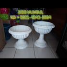 Pot Bunga Lotus Putih Plastik Dekorasi Manten 4