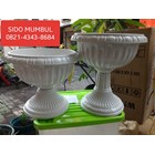 Pot Bunga Lotus Putih Plastik Dekorasi Manten 3
