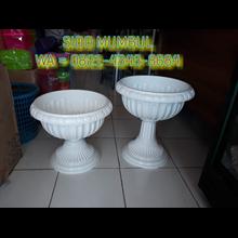 Pot Bunga Lotus Putih Plastik Dekorasi Manten