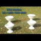Pot Vas Bunga Lotus Putih Plastik Dekorasi Manten